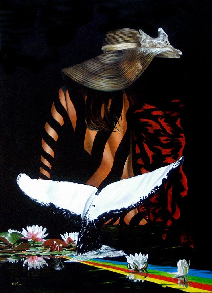 """""""]  Siren – oil on canvas 70x50 cm."""