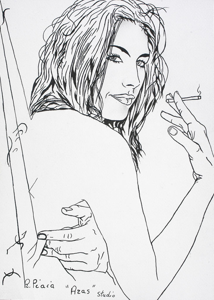 "<img src=https://cdn.shortpixel.ai/client/q_glossy,ret_img,w_731/https://www.robertopiaia.com/wp-content/uploads/2018/06/aras.jpg alt=""Zeichnungen-Roberto Piaia - aras"" />"
