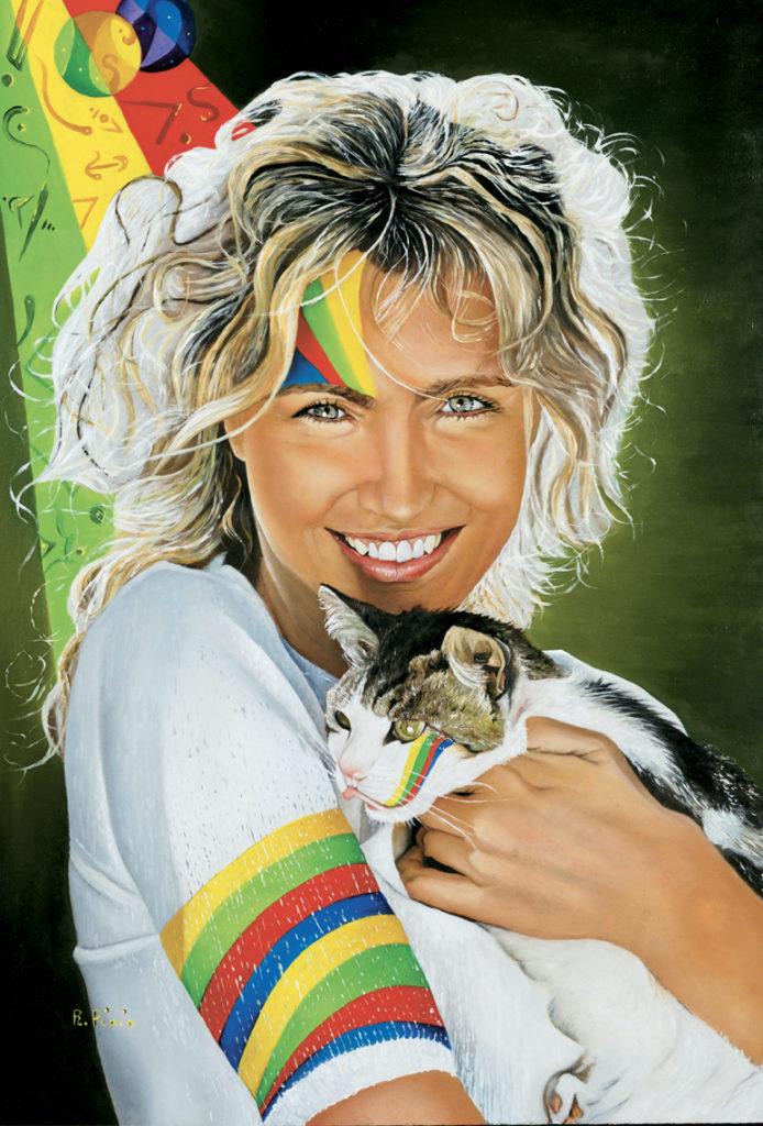 Licia Porträts Öl