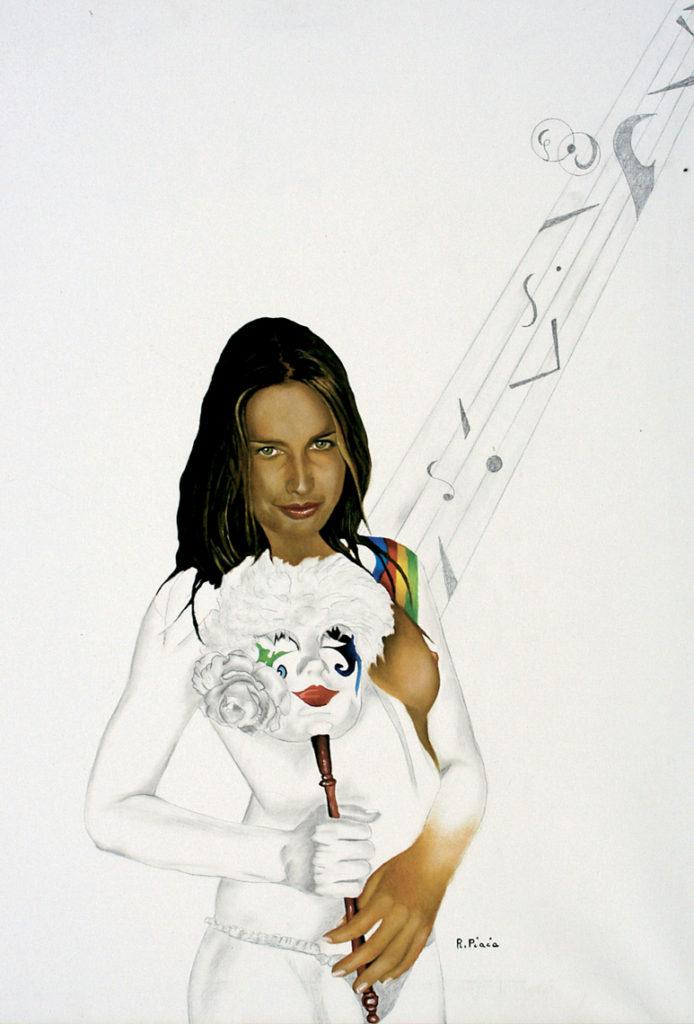 Natalia Ritratto Olio Disegno