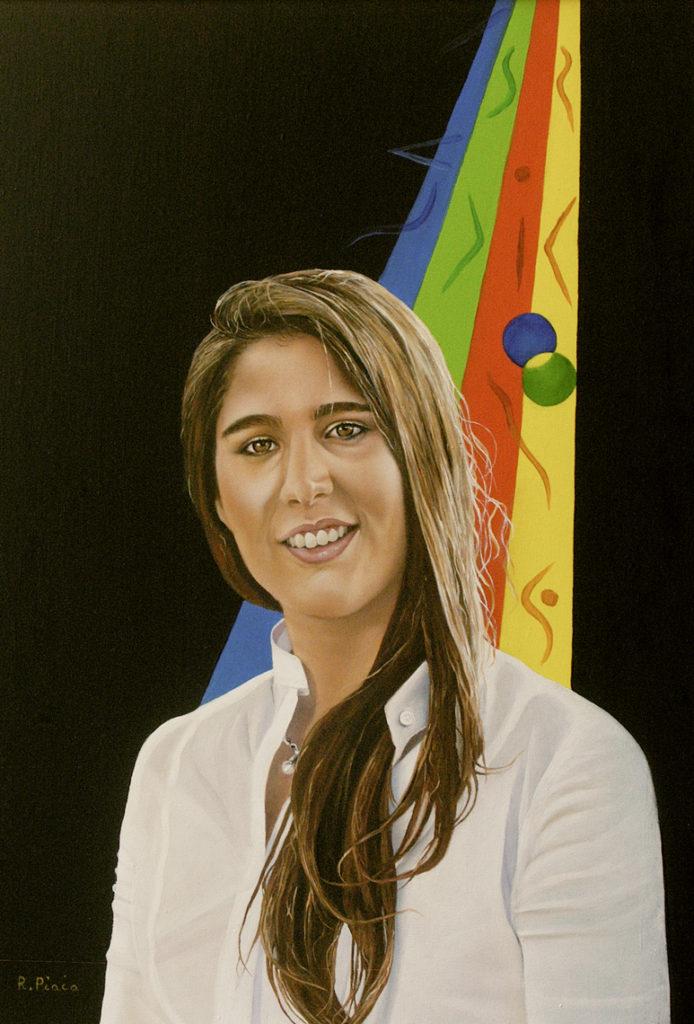 Sara Porträts Öl